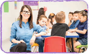 teacher proud of her students